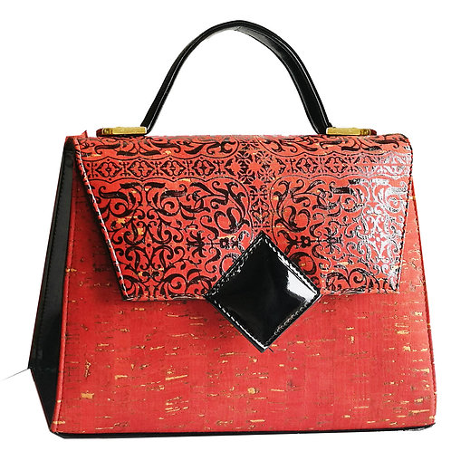 "Kelly small ""Rinascimental"",printed red cork"