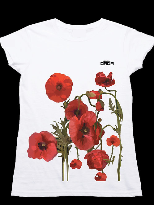 "T-shirt woman ""Poppies"""