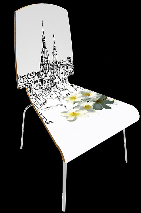 """Personalized chair """" City flower Palermo"""""""