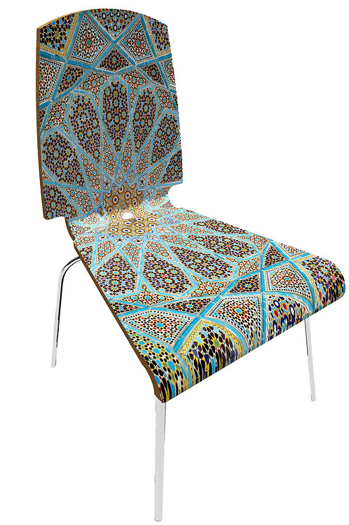 """Personalized chair """" Blue Islamic"""""""