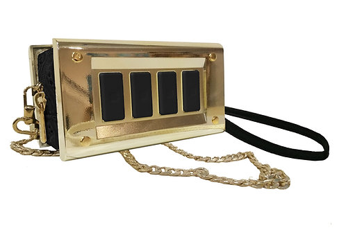 """Switch bag"" -gold black"