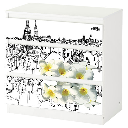 """Personalized drawers """"City flower Palermo"""""""