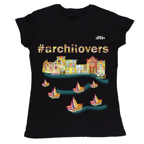 "T-shirt woman ""Colorful architectures"""