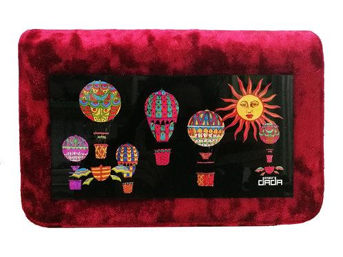 """Frame bag model """"Hot air balloons"""" - VELVET version"""