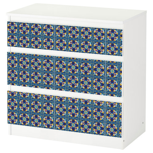 "Personalized drawers ""Blue Maiolica"""