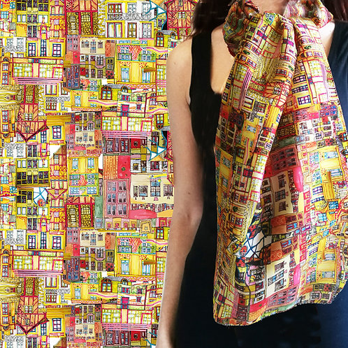 """Foulard """"Colorful architectures"""""""
