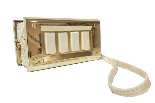 """Switch bag"" -gold macramè"