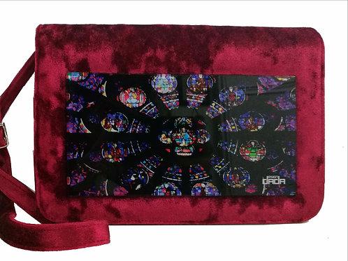 """Frame bag model """"Gothic bordeaux"""" - VELVET version"""