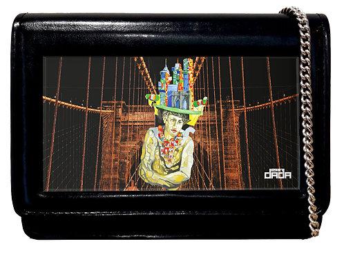 "Frame bag model ""My New York vision"""