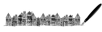 Norman houses. norman age, digital art, artwork by Ernesto Gradii