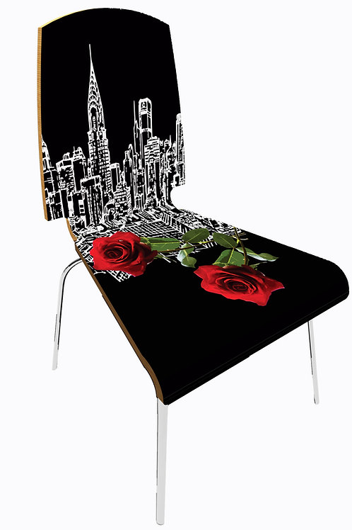 """Personalized chair """" City flower New York"""""""