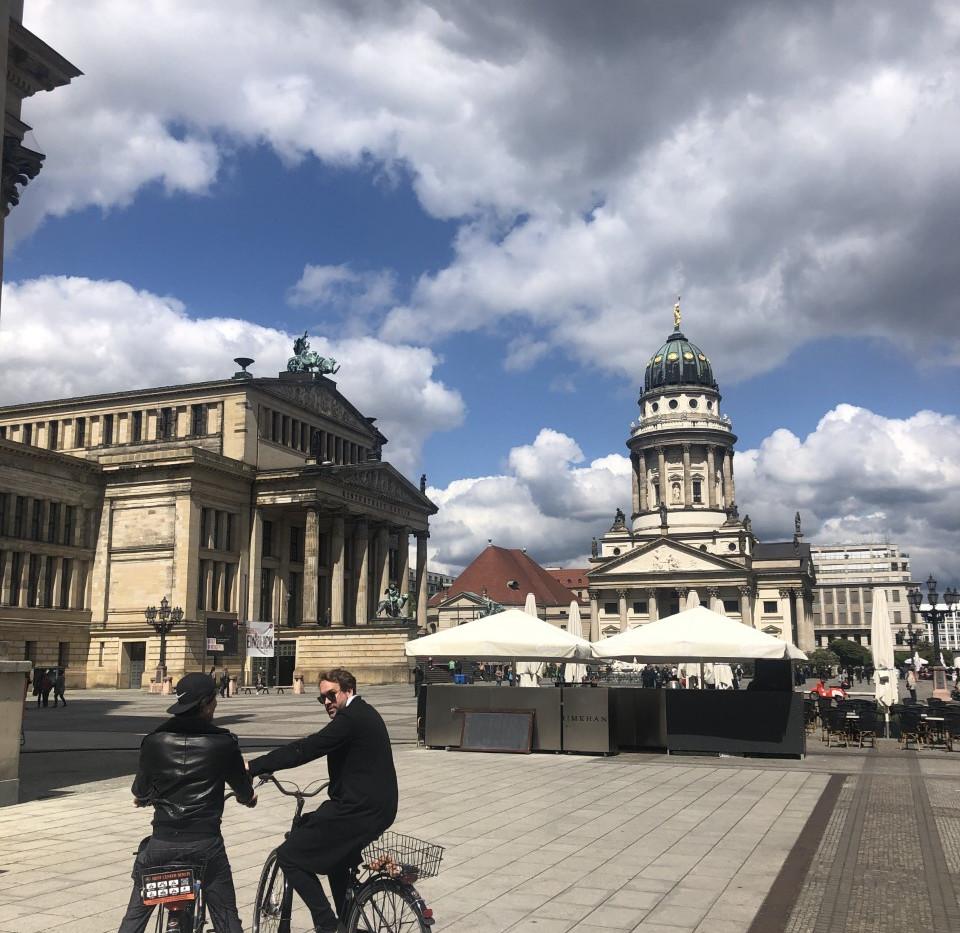 Biking all around berlin, exploring the beautiful city outdoors