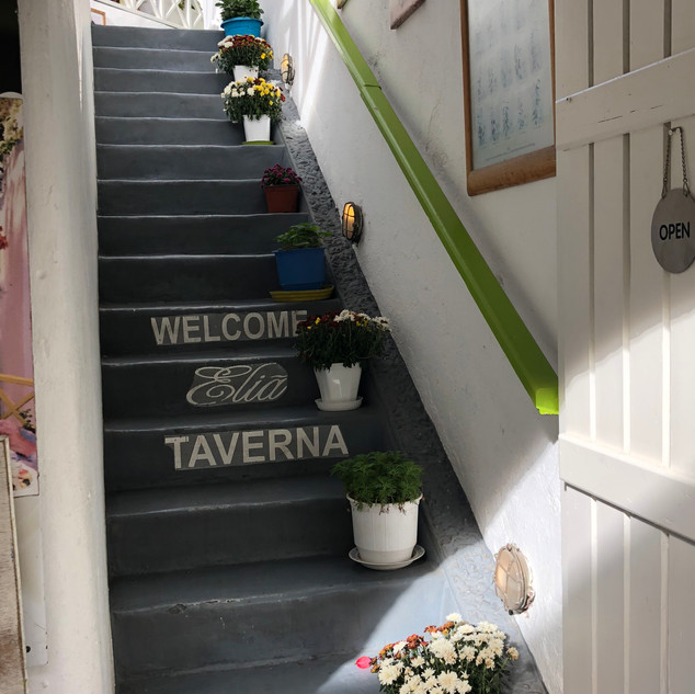 Stairway to rooftop