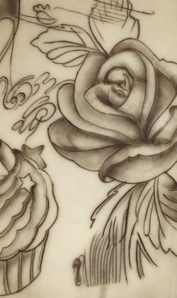 tattoo fiore rosa
