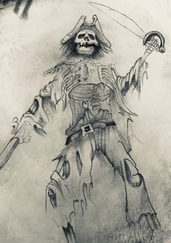 tattoo scheletro pirata
