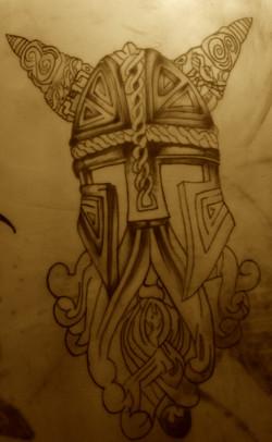 tattoo elmetto guerriero re