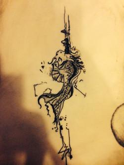tattoo carpa astratto braccio