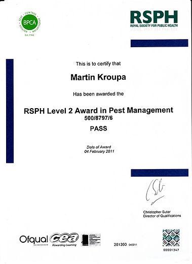 BPCA/RSPH Award in Pest Management