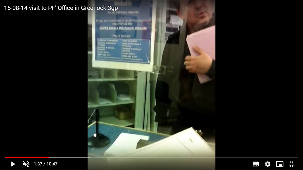 Martin Kroupa visits PF's office in Greenock on 14-08-15