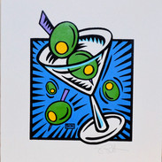 Burton Morris Martini (Blue)