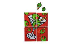 SCAS Burton Morris Martini Quad w Olives