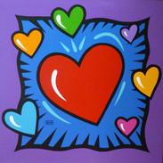 Burton Morris I Love You Hearts