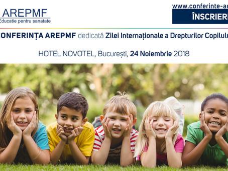 PROGRAM PRELIMINAR – CONFERINȚA AREPMF dedicată Zilei Internaționale a Drepturilor Copilului – 24 no