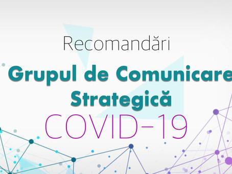 15 RECOMANDARI privind conduita sociala responsabila in prevenirea raspandirii COVID-19