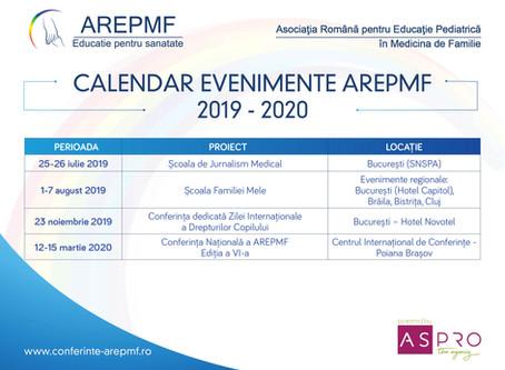 Calendarul evenimentelor AREPMF