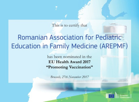 AREPMF, nominalizata pentru promovarea sanatatii prin vaccinare