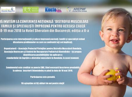 """CONFERINŢA NAŢIONALĂ """"Distrofia musculară – familii şi specialiști ȋmpreună pentru aceeaşi cauză"""" –"""