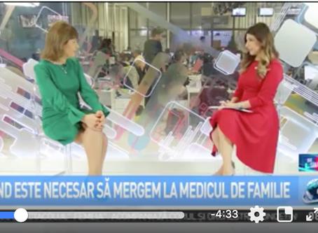 """Dr. Valeria Herdea în emisiunea """"Sfat de Sănătate cu Andreea Cigolea"""""""