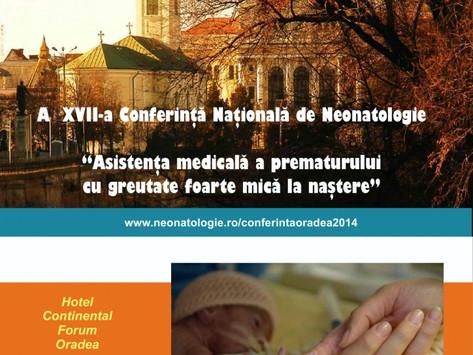 Conferinta Nationala a Societatii Romane de Neo-Natologie – Septembrie 2014