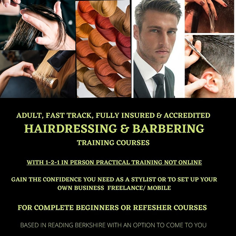 IN PERSON, NOT ONLINE ADULT, FAST TRACK, FULLY INSURED & ACCREDITED HAIRDRESSING & BARBERI