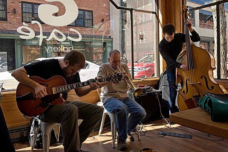Chris  Cretella, Lou Guarino and Carl Testa at G-Caf
