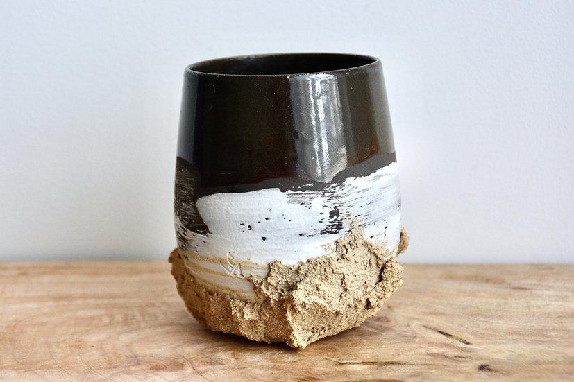 Vase chocolat noir, crème de lait et génoise moelleuse
