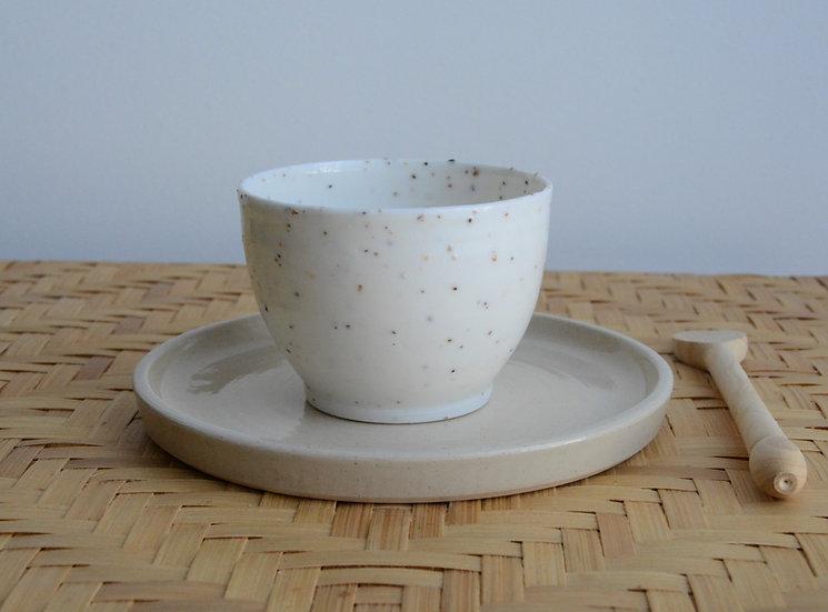 Petites tasses à dégustation de thé en porcelaine fine et de grains de mica
