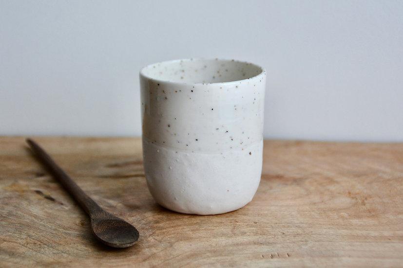 Tasse à café, bi-texture : coco / nougat