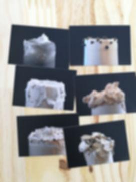 Mes cartes de visites qui communiquent sur mes différentes pièces avec des textures variées et gourmandes
