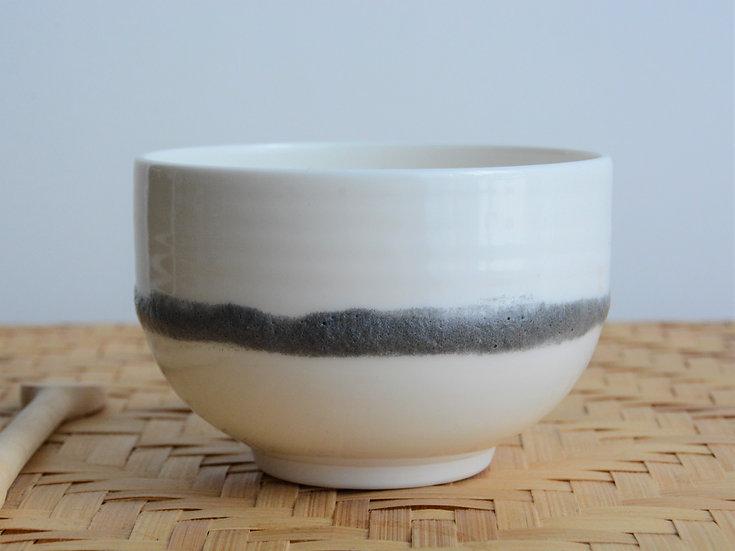 Bol en porcelaine et ligne de texture I Brillante