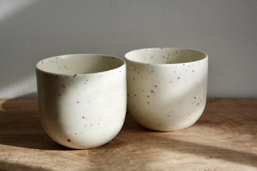 Duo de tasses granitées et satinées