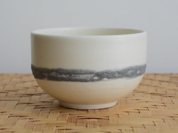 Bol en porcelaine et ligne de texture I satinée