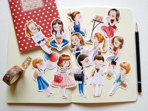 Daily Girls Sticker Pack - 12PCS