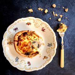 Can you beat fresh quiche straight from the oven ?
