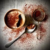 Chocolate & salted caramel mousse, honeycomb crunch & vanilla cream