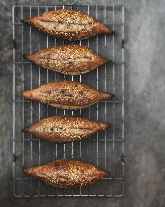 Mixed seed & malted wheat mini baguettes