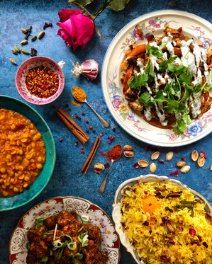 Indian inspired feast