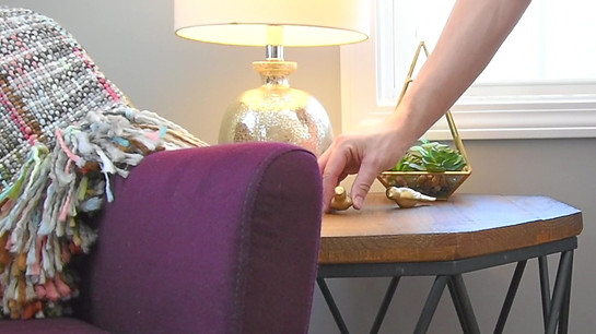 Interior Design Home Staging Side Table Metal Legs