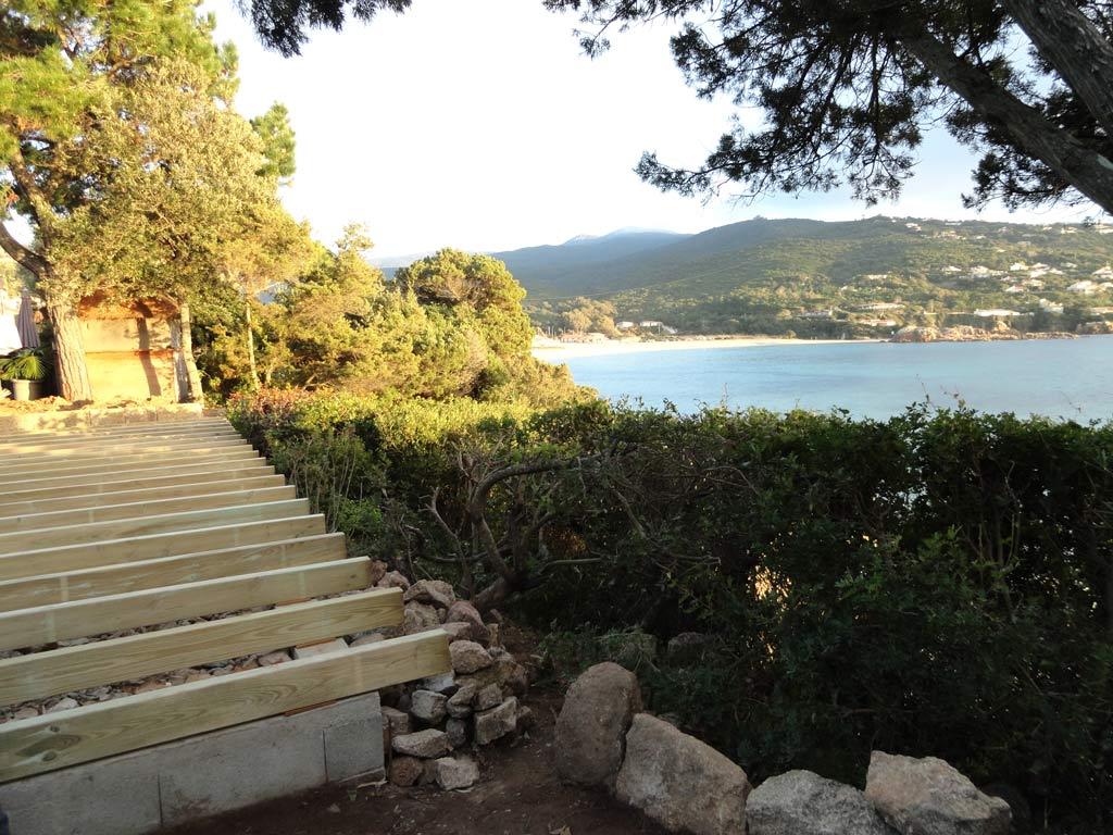 Terrasse avec vue sur le Ruppione