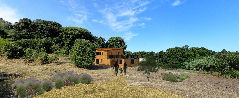 Maison Pisé autoconstruction, Corse
